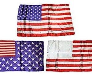 AMERICAN FLAG – MISMADE WITH A TWIST SILKS 14″ X 21″