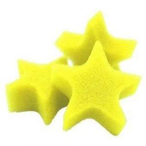 SPONGE STARS BAG OF 25 YELLOW