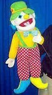 HAND HELD PUPPET CLOWN