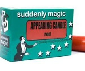 APPEARING CANDLE – PLASTIC RED