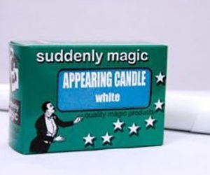 APPEARING CANDLE – PLASTIC WHITE