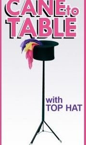 TABLE – CANE TO TABLE WITH FOLDING TOP HAT