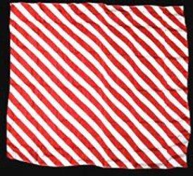 ZEBRA SILK – RED AND WHITE 21″