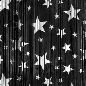 BACKDROP – BLACK WITH SILVER STARS