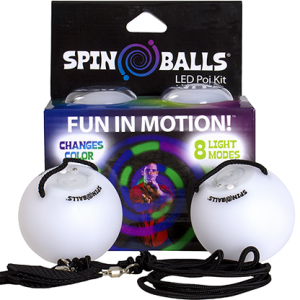 SPINBALLS LED GLOW POI COLOR CHANGING