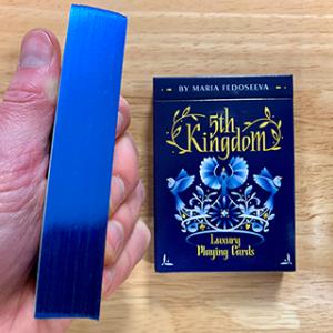 5TH KINGDOM SEMI-TRANSFORMATION – PLAYER EDITION – GILDED BLUE 2 WAY – PLAYING CARD DECK