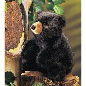 PUPPET BABY BLACK BEAR