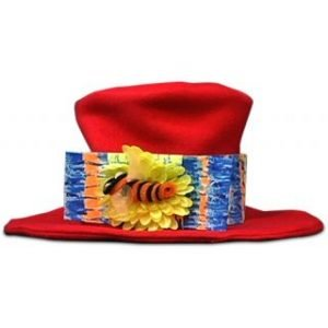TOP HAT – CLOWN – RED