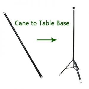 CANE TO TABLE WITH HAT – ALUMINUM