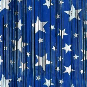 BACKDROP – BLUE WITH SILVER STARS