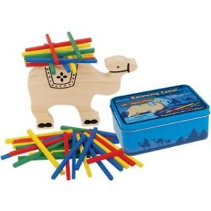 BALANCING CAMEL WOODEN GAME IN A TIN