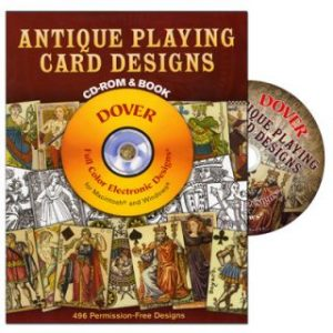 ANTIQUE PLAYING CARD DESIGNS by DOVER PUBLICATIONS WITH BOOK ON CD
