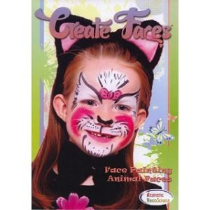 CREATE FACES™ FACE PAINTING – ANIMAL FACES ON DVD