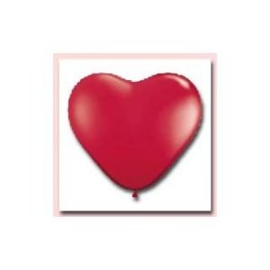 BALLOONS HEART ALL RED QUALATEX