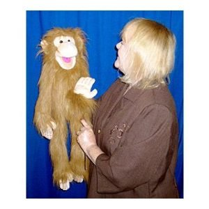 HAND HELD PUPPET BIG MONKEY BROWN
