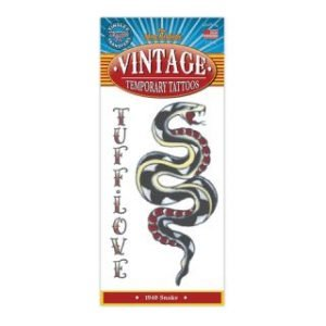 1940 SNAKE VINTAGE TEMPORARY TATTOO
