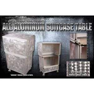 TABLE – ALL ALUMINUM SUIT CASE BRUSHED FINISH