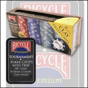 BICYCLE POKER CHIP SET – 100 COUNT