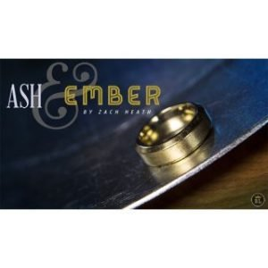 ASH AND EMBER – GOLD BEVELED SIZE 10 – 2  RINGS