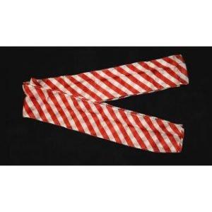 STREAMER – ZEBRA RED AND WHITE 6″  X 18′