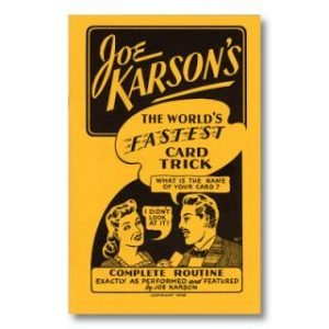 WORLD'S FASTEST CARD TRICK by JOE KARSON