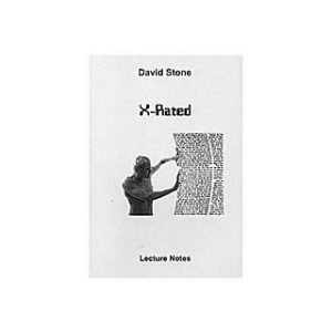 X RATED LECTURE NOTES by DAVID STONE