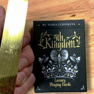 5TH KINGDOM SEMI-TRANSFORMATION – ARTIST EDITION – GILDED GOLD PLAYING CARDS
