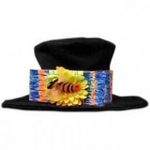 TOP HAT – CLOWN – BLACK