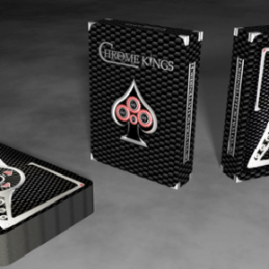 CHROME KINGS CARBON PLAYING CARDS – STANDARD