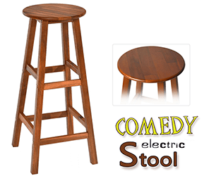 COMEDY ELECTRIC STOOL – WOOD