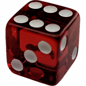 TF DICE – TRANSPARENT FORCING DICE – RED