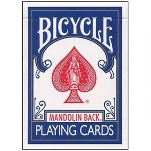 BICYCLE CARDS – 809 MANDOLIN GT SPEEDREADER MARKED – BLUE