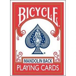 BICYCLE CARDS – 809 MANDOLIN GT SPEEDREADER MARKED – RED